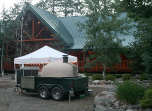 Log Home Wood Fired Pizza Catering