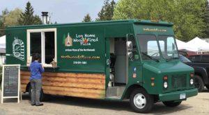 Log Home Wood Fired Pizza, Farmers Market, Grand Rapids, MN