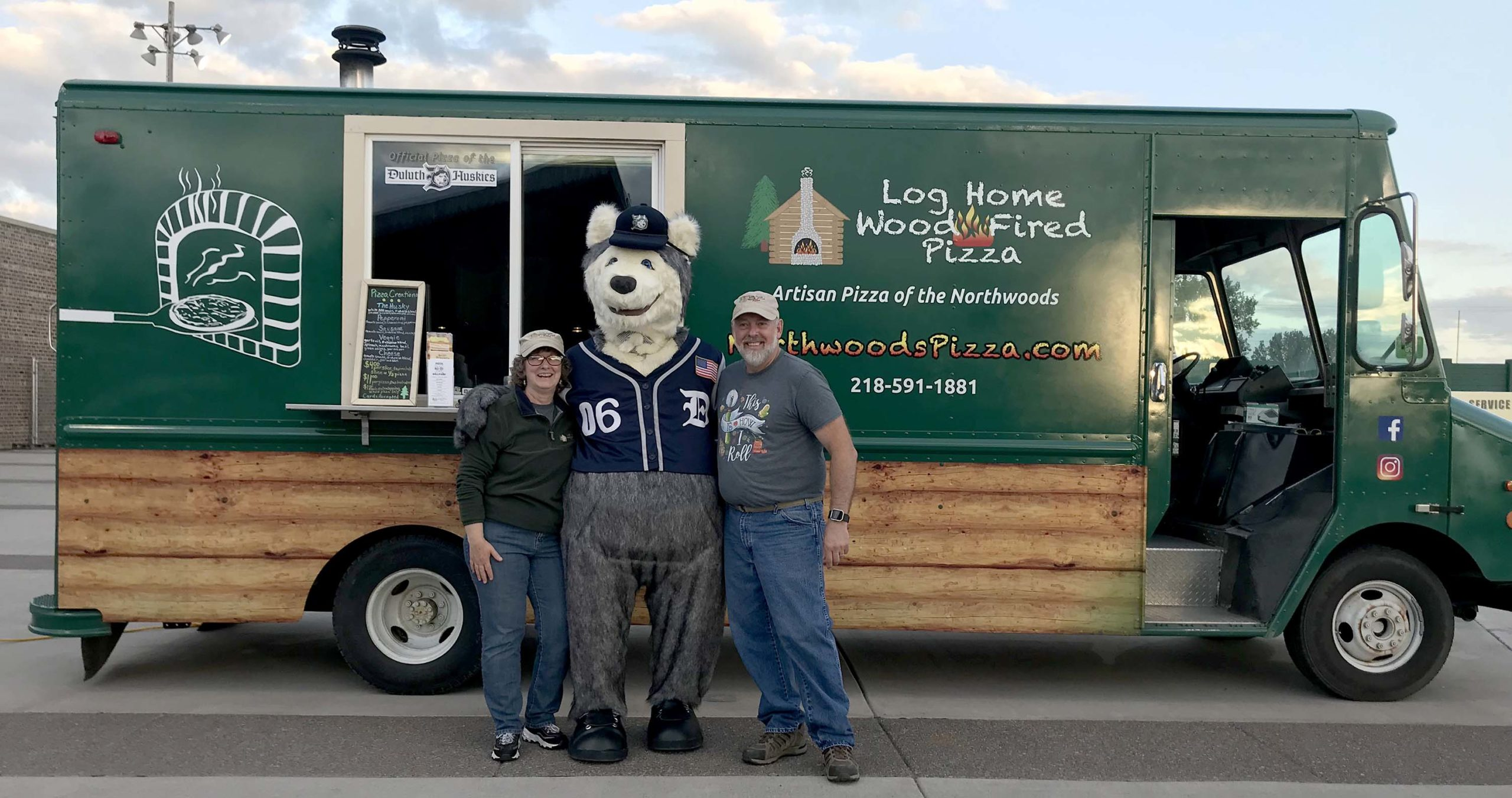Log Home Wood Fired Pizza, McGregor, MN, Duluth Huskies