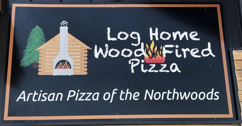 Log Home Wood Fired Pizza Shop, McGregor, MN