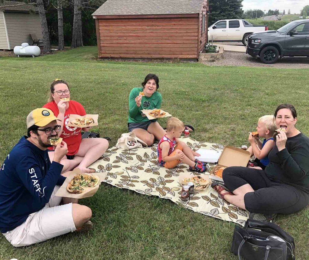 Log Home Wood Fired Pizza, McGregor, MN, Pizza Picnic